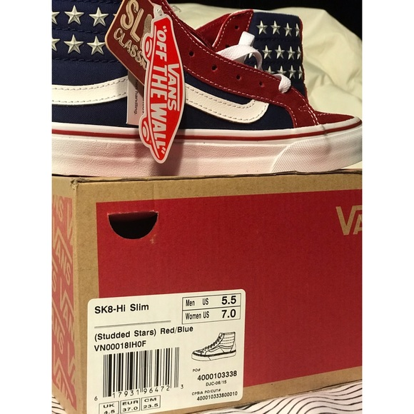 c52a7f2c1c1 Vans SK9-Hi slim American flag